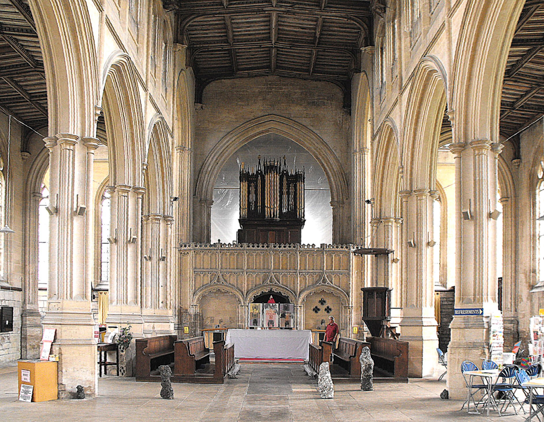 The Stone Screen Between Nave And Chancel Was Erected Some Time Before C 1528 At Expense Of Robert De Whaley Who Buried Beneath It In That